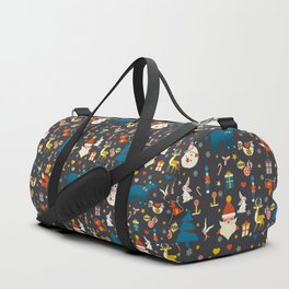 Christmas symbols pattern Duffle Bag