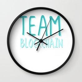Team Blockchain Crypto Wall Clock