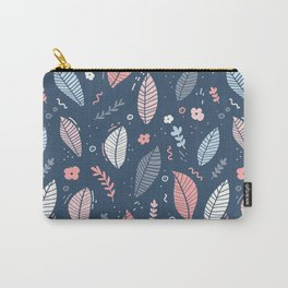 A Frolic Of Flowers And Leaves In A Perfectly Pretty Pastel Pattern Carry-All Pouch