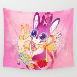 Magical Pretty Princess Sugar Ribbon Jackalope-Chan Wall Tapestry