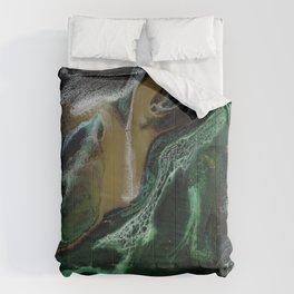 Trimeresurus Stejnegeri - green fluid abstract Resin Art Comforters