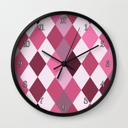 Pink Roses in Anzures 2 Harlequin 1 Wall Clock