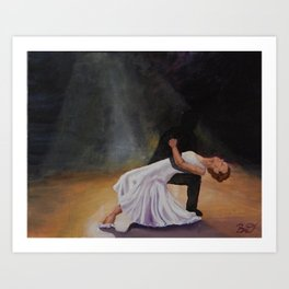 Dancing with Shadows 3 Art Print