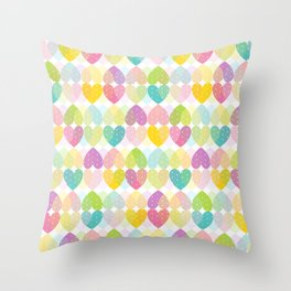 Colorful Sweet Candy Heart Pattern I Throw Pillow