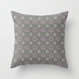 Grey, Pink and White Architectural Design Throw Pillow