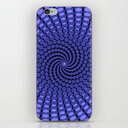 more blue spirals iPhone Skin