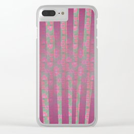 Poppies and lines Clear iPhone Case