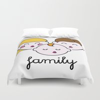 family Duvet Covers featuring Family by yuBB
