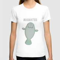 manatee T-shirts featuring Manatee by Carl Batterbee Illustration