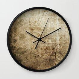 Antique Vintage Worn Decor Paper Wall Clock