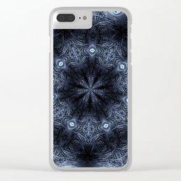 Blue Eyes Mandala Clear iPhone Case