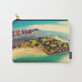 Ala Moana Beach Park, Magic Island, and Diamond Head  Carry-All Pouch