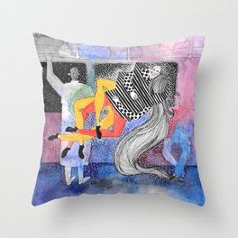 Stranger Collision  Throw Pillow