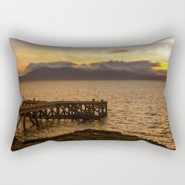Last Cast at Portencross Jetty Rectangular Pillow