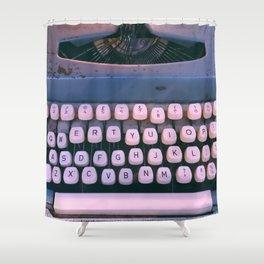 #01#Typewriter#vintage#machine Shower Curtain