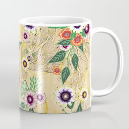 Psychedelic flowers  Coffee Mug