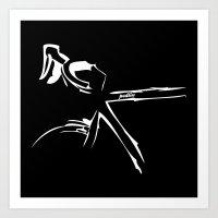bike Art Prints featuring Bike by Pedlin