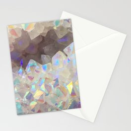 Iridescent Aura Crystals Stationery Cards