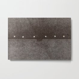 Cracked & Pinned Leather (California) Metal Print