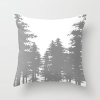 forrest Throw Pillows featuring Forrest by Dan Parker