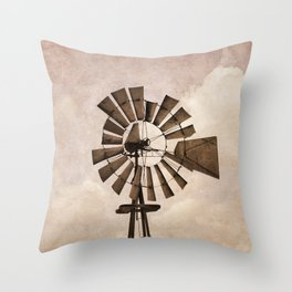 Iowa Windmill Throw Pillow