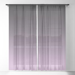 Black, lilac Ombre. Sheer Curtain