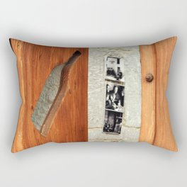 decorated wood door Rectangular Pillow