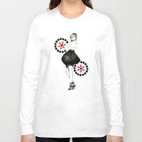 emma watson Long Sleeve T-shirts featuring EMMA WATSON by My Dear Bambi