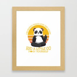 Mostly Peace Love Light And A Little go F You Framed Art Print