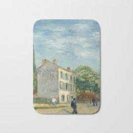 Restaurant Rispal at Asnieres by Vincent van Gogh Bath Mat