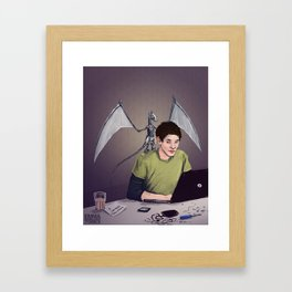 Merlin and the Mechadragon Framed Art Print