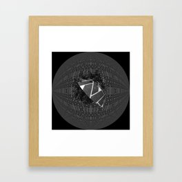 The dark moon over helis shadow Framed Art Print