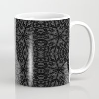 gray pattern Mugs featuring Slate Gray Black Pattern by 2sweet4words Designs