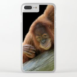 Smiling Young Orangutan Clear iPhone Case