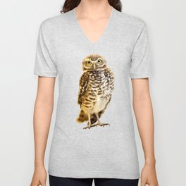 Burrowing Owl 1 Unisex V-Neck
