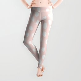 Hand drawn dots on pink - Mix & Match with Simplicty of life Leggings