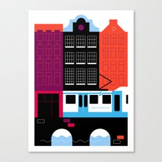 Postcards from Amsterdam / Tram Canvas Print