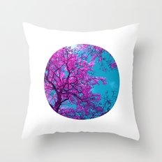 purple tree XXIX Throw Pillow
