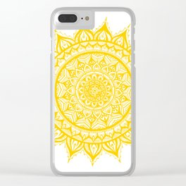 Sunflower-Yellow Clear iPhone Case