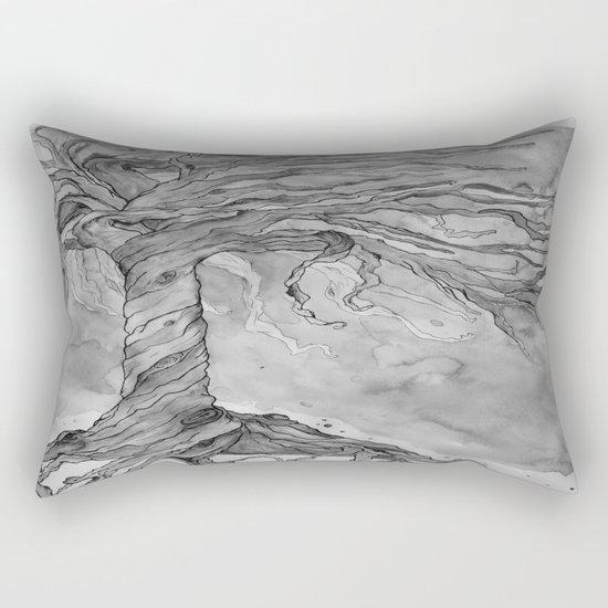 Tree of Life (Grey Scale) Rectangular Pillow