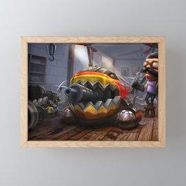 Hot Rod Corki League of Legends Framed Mini Art Print