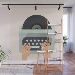 Vinyl Typewriter Wall Mural