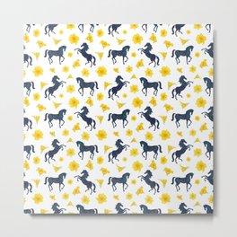 Where the blue horses run Metal Print