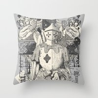 knight Throw Pillows featuring Knight by Tshirt-Factory