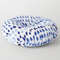 painted dots blue Floor Pillow
