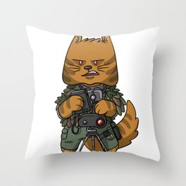Spotter sniper tactical cat lover gift ideas Throw Pillow