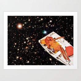Cosmic Float 2 Art Print