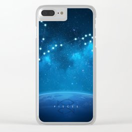 Pisces: Astrological Art Clear iPhone Case