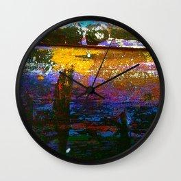 Easel Abstract 1 Wall Clock