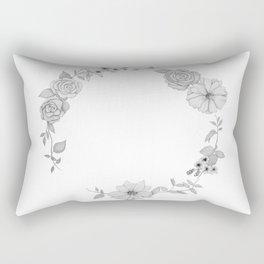 A circle of flowers Rectangular Pillow